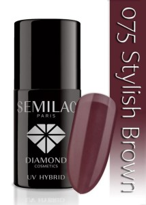 075 Semilac - Stylish brown 7 ml